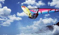ハワイでウインドサーフィン